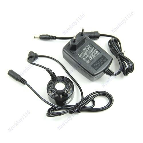 A31 Hot Selling 1PC 12-LED Ultrasonic Mist Maker Fogger Water Fountain Pond 110V~240V EU Plug Drop Shipping(China (Mainland))