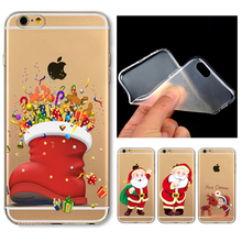 For iphone 4 4s 5 5c 5s 6 6s plus New Arrival Soft TPU Protective Cases Christmas Gift New Year Painted Snowman Back Cover Case