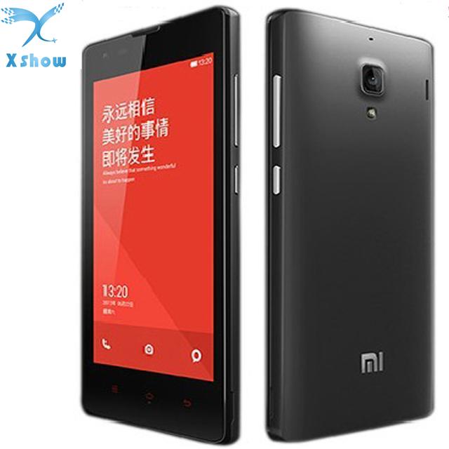 Оригинал Xiaomi Hongmi красный рис MT6589T четырехъядерный мобильный телефон 1 ГБ оперативной памяти 4 г ROM 4.7 '' IPS Wcdma две сим-gps русский бесплатная доставка