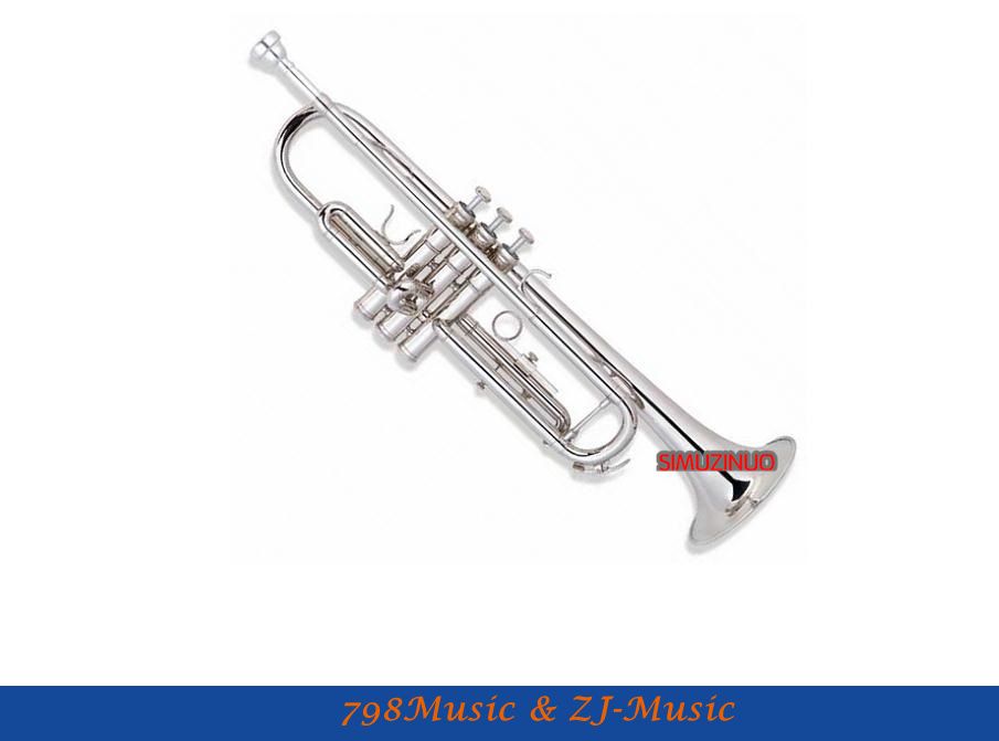 Nickel Plated Trumpet Standard Model With Case-Bore Size 11.65mm-Bell DIA.123mm(China (Mainland))