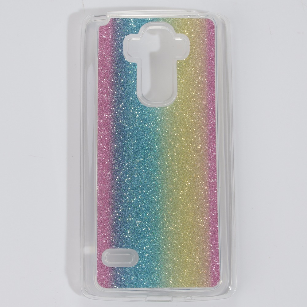 For LG G4 Stylus LS770 Case Fashion Bling Glitter Rainbow Frosted Matte Back Cover Soft TPU Capas Para For LG G4 Stylus Case(China (Mainland))