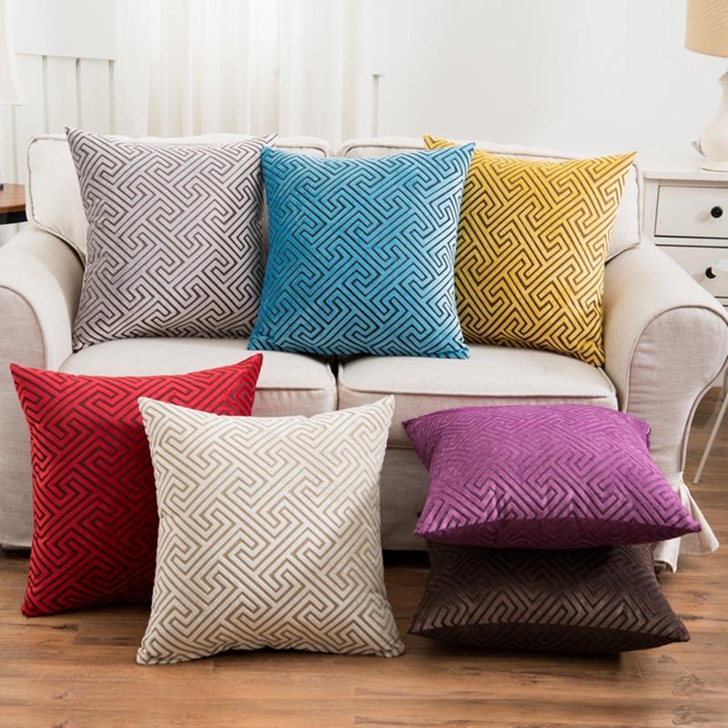 Achetez en gros velours de luxe tissu en ligne des for Taie d oreiller pour canape