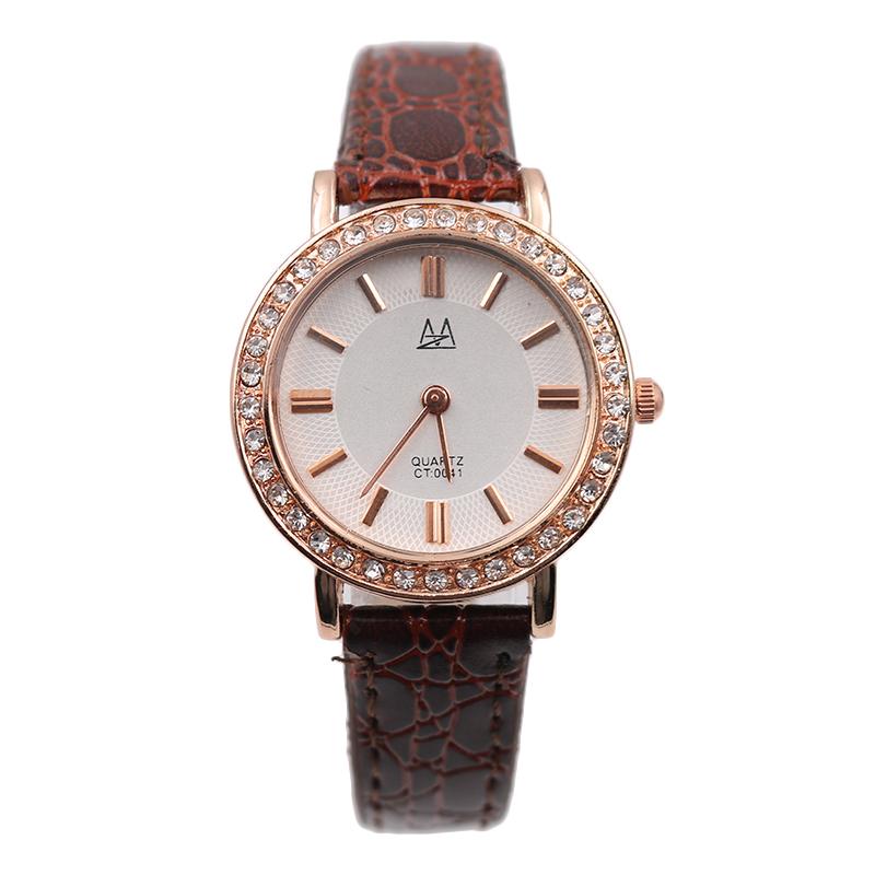 Watch Women Luxury Fashion Rhinestone Quartz-watch Leather Montre Femme Two Pointers Watches Reloj Mujer Orologi Donna Relogio<br><br>Aliexpress