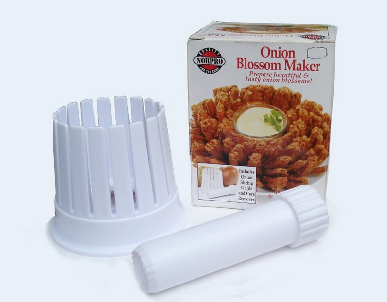 Plastic kitchen onion slicer cutter blossom maker tool Plastic 2-in-1 Onion Blossom Maker Onion Slicing Guide as seen on TV()