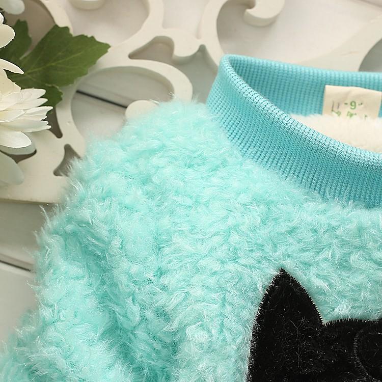 зимние детские mädchen флиса пуловер langarm verdicken bebes oberbekleidung kleidung karikaturkatze säugling Толстовки jacken moletom 175