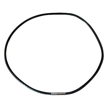 FREE SHIPPING 50 PCS BLACK LEATHER CORD NECKLACES M19355