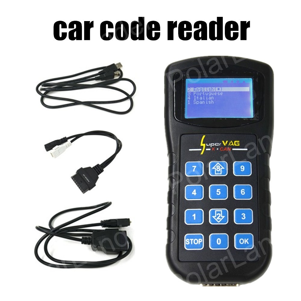 2016 new arrival Diagnostic Tools Super VAG K+CAN V4.8 with OBD2 cable Car Scanner Scan tool Code Reader Tester(China (Mainland))