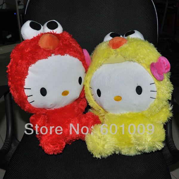 "Free Shipping EMS 50/Lot New 2 Colours Hello Kitty x Sesame Street Plush - 12"" Kitty Elmo Wholesale(China (Mainland))"