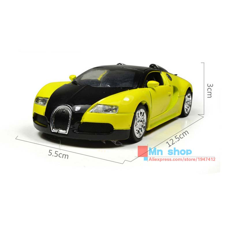 1:36 Alloy Diecast Car Collectible Models Bugatti Veyron With Sound&Light Mini Toy Cars Educational Pull Back Brinquedo Gift P65(China (Mainland))