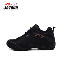 JAZOVO 2016 Man Waterproof Breathable Hiking Shoes Big Size Outdoor Boots Black Trekking Sport Sneakers Men Waterproof Shoes(China (Mainland))