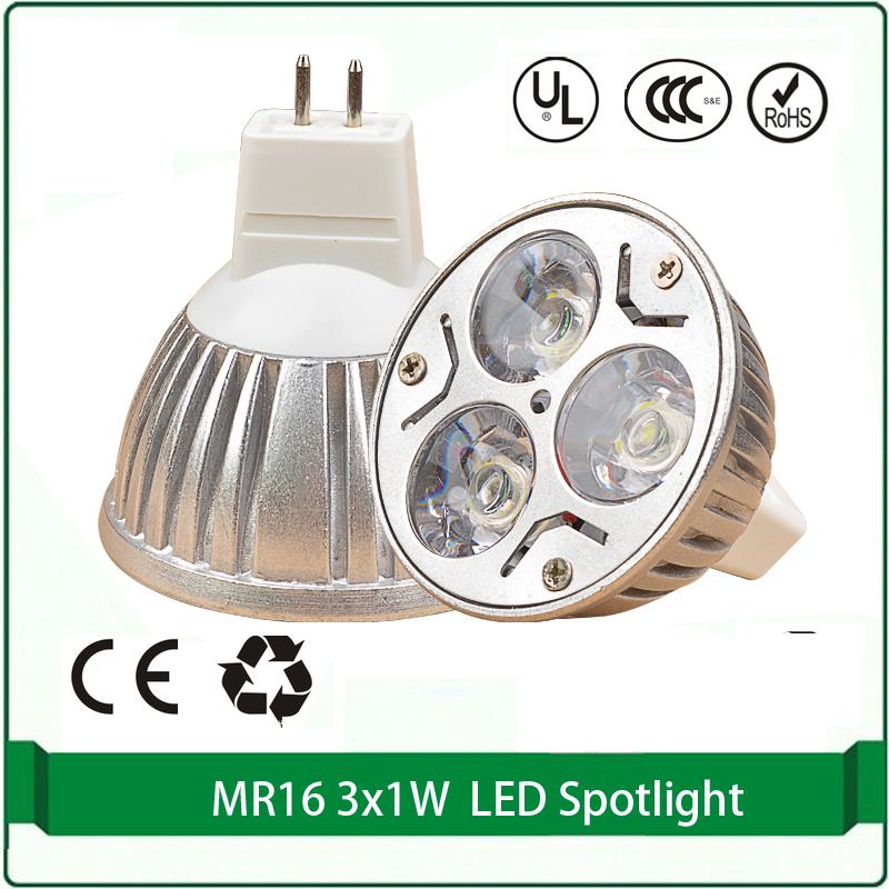 buy 4 pieces mr16 12v led spotlight 3x1w mr16 bulb high power led spot lights. Black Bedroom Furniture Sets. Home Design Ideas