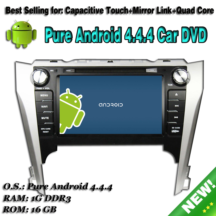 Latest RK3188 Quad Core GPS Radio Android 4.4.4 Toyota Camry 2012 Car DVD Player with 8inch HD 1024*600 Capacitive Touch Screen(China (Mainland))