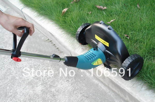 electric mower 220v/500w hand push cleaner wheel brush grass cutter trimmer handle(China (Mainland))