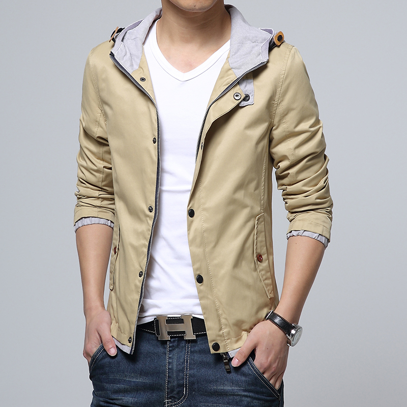 2015 spring autumn new male patchwork jacket men Hooded coat casual outdoor Coats & Jackets high quality Jackets plus size XXXL(China (Mainland))
