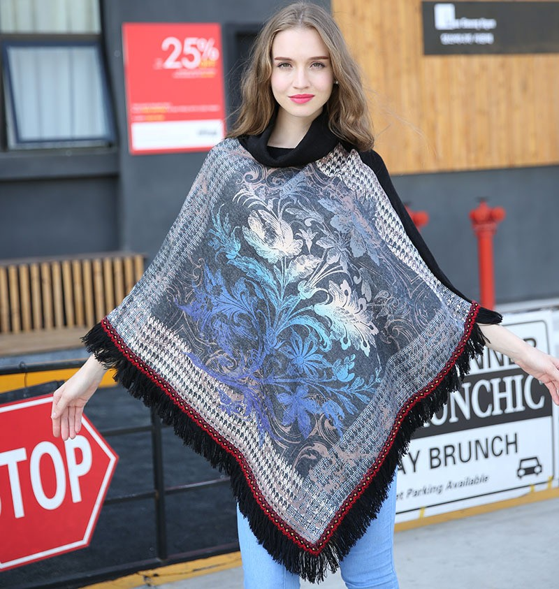 Fashion brand blanket scarf women cashmere scarf poncho Acrylic plover tassel Pashmina bufandas winter warm shawls and scarves