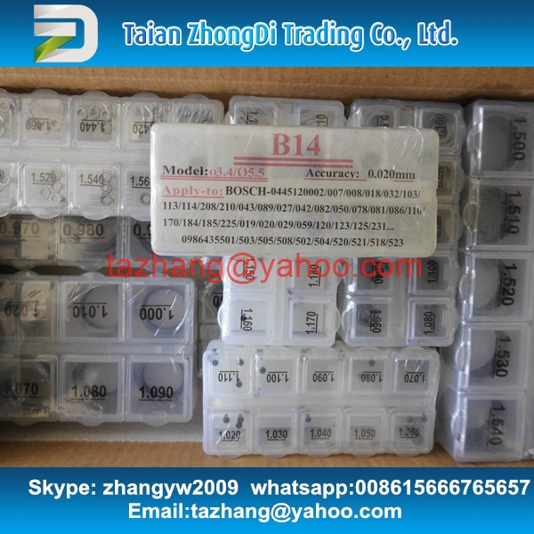common rail injector adjustment shims 555pcs/pack ,for common rail injector, 1 pack have 555 pcs shims(China (Mainland))