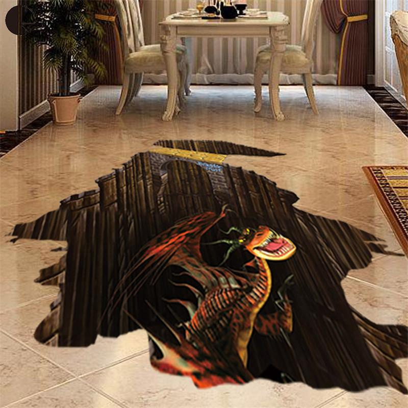 Novelty 3D Designed Wall Sticker Suitable For Mirror Wall and Floor Home Decoration Children Wallpaper Wall Vinyl Decals Murals(China (Mainland))