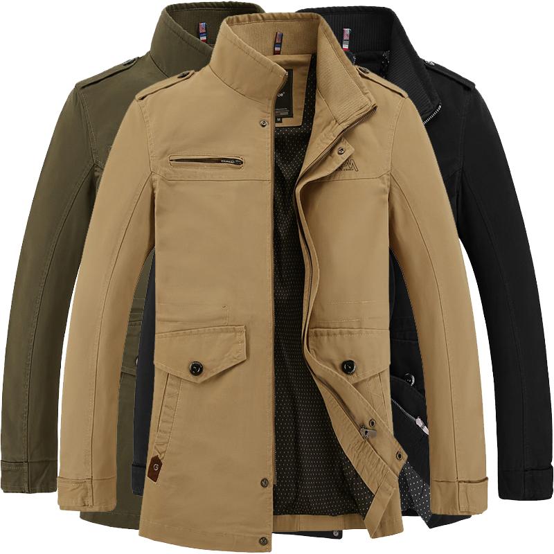Brand Mens Jacket jaqueta fashion Windbreaker Business Casual Coats men pure cotton male jackets Outerwear windproof Veste Homme(China (Mainland))