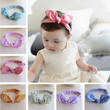 Rabbit Ear Headwear Baby Hair Accessories Kids Hair Band  Bow Headwrap Lovely Bowknot Children Headband  Girls Headband