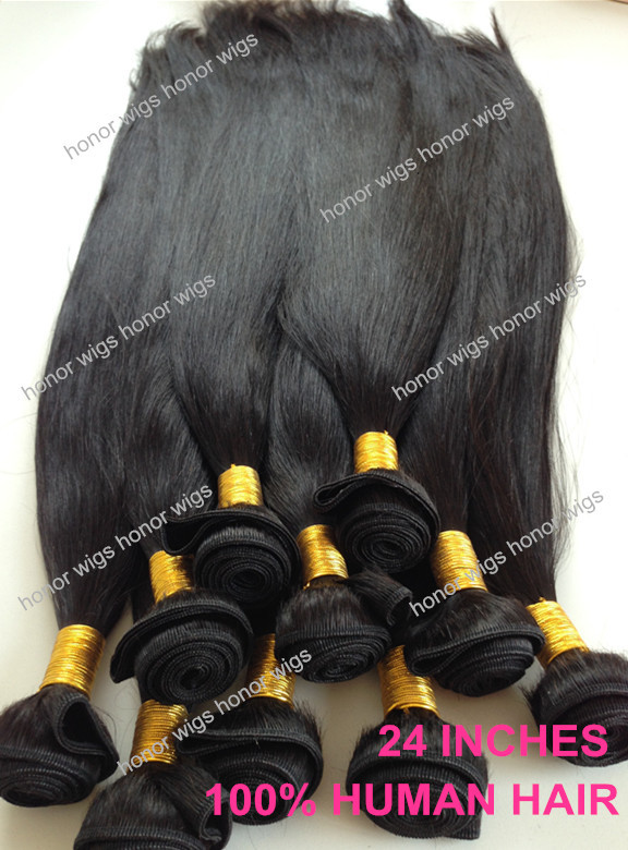 Super quality silk straight malaysia remy hair 24 inches human hair weft<br><br>Aliexpress