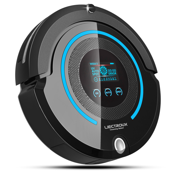 Most Advanced Multifunction Robot Vacuum Cleaner(Sweep,Vacuum,Mop,Sterilize),Touch Screen,Schedule,Virtual Wall,Self Charge,A338(China (Mainland))
