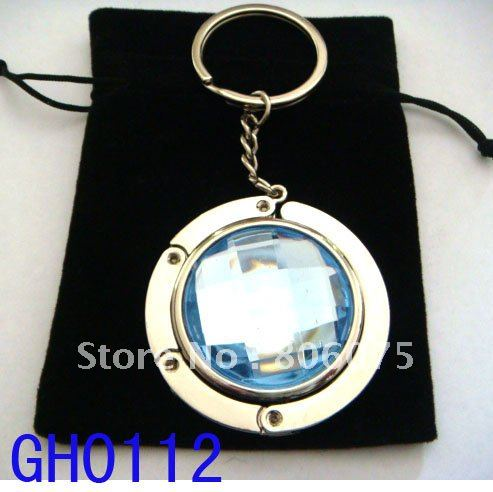 Wholesale fashion 4.5cm round metal foldable bag hanger, 12pcs/ lot mixed color GH0113(China (Mainland))