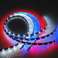 Excellent Quality Waterproof 60cm 30 SMD LED Car Auto Flexible Strip Bar Lights Lamp DC12V Red Blue White - Teamwin Trading Co., Ltd. store
