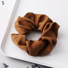 1PC 絹のようなサテン髪 Scrunchies 女(China)