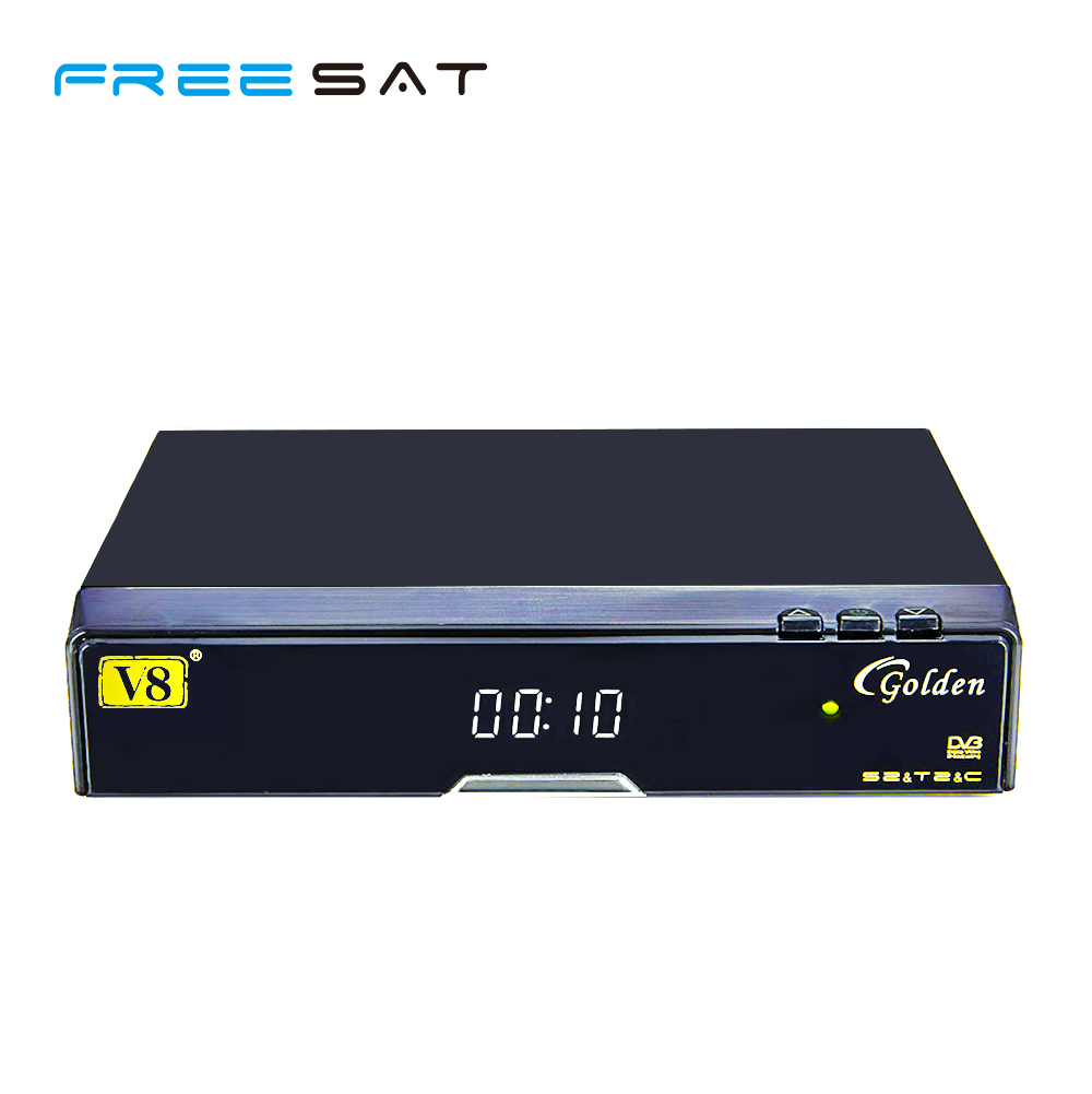 Dgital satellite receiver hd DVB S2 T2 Cable V8 Golden instead of V8 pro Set top box support CCCAM Powervu Patch Youtube(China (Mainland))