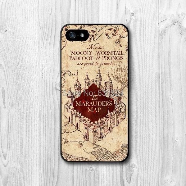 Wholesale and Retail Harry Potter Marauders Map Case For iPhone 4 4s 5 5s 5c 6 6PLUS(China (Mainland))