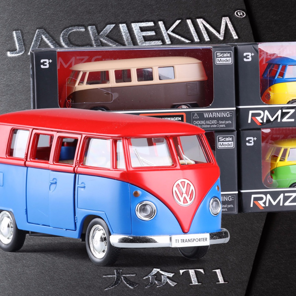 High Simulation Exquisite Model Toys RMZ City Car Styling Volkswagen Van Retro Print Little Bus Alloy Bus Model Excellent Gifts(China (Mainland))