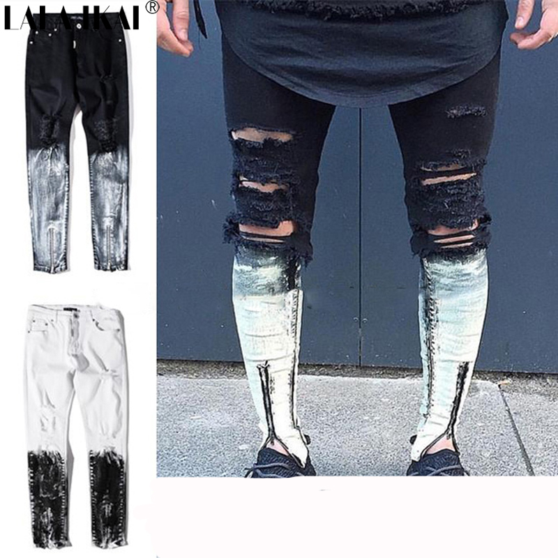 Popular Rip Jeans Joggers Men-Buy Cheap Rip Jeans Joggers Men lots ...
