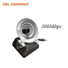 High Power 300Mbps usb wireless adapter RTL8192CU 10dBi Radar Antenna WiFi Signal Transmitter Receiver Comfast CF-WU771N
