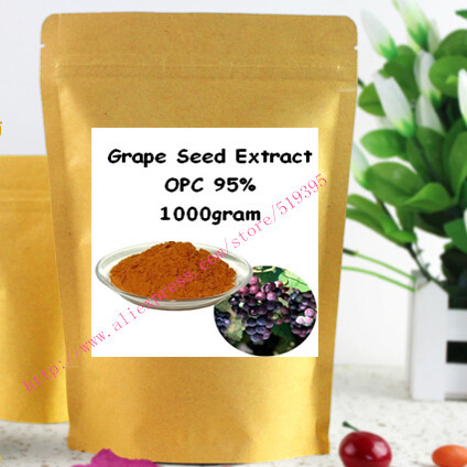 1000gram(35.2oz) Grape Seed Extract Powder 95% OPC Powerful Antioxidant ,Anti-aging,Promotes healthy skin free shipping
