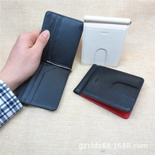 New Fashion Money clips solid mens wallet with leather genuine wallet clip with card ID Case