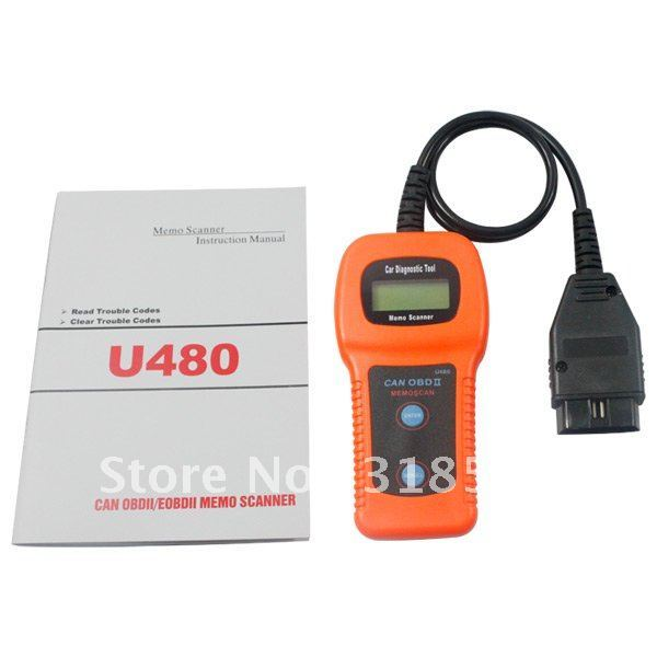 Best quality and best service u480 OBD2 CAN BUS Code Scanner OBDII Engine Code Reader free shipping