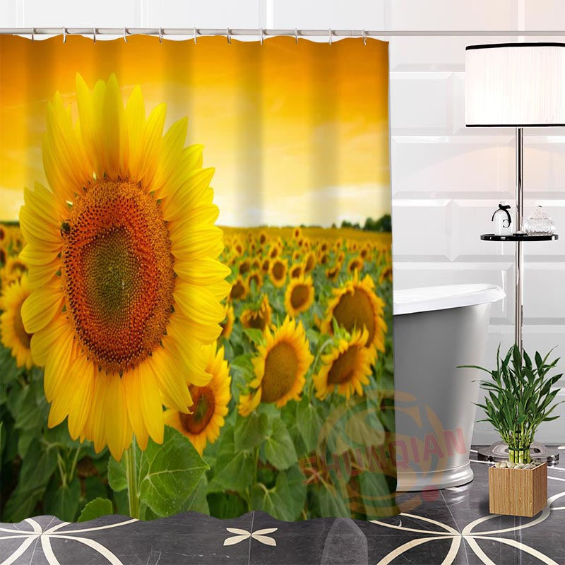 Online Get Cheap Sunflower Shower Curtain Aliexpress