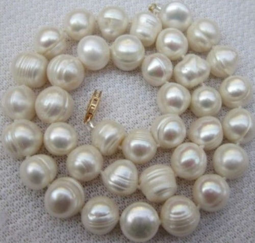 Among the white South Sea Baroque 11-12mm 2014 new free shipping pearl necklace 18 BV337(China (Mainland))