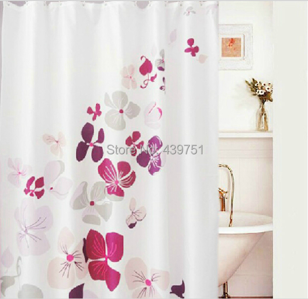 2014 Hot Sale Bathroom Curtain Christmas Gift Flower