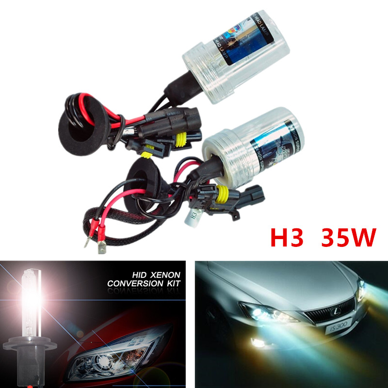 H3 HID Xenon Pure White Replacement Car 6000K 35W Headlight Headlamp Bulb Lamp parking Light Source  -  Guang Zhou Hong Hui Technology co., LTD store