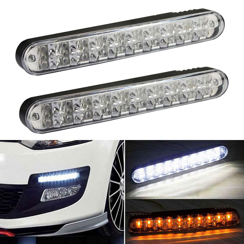 2PCS Pair Car LED Daylight DC 12V LED Car Daylight Running Light DRL with Turn Lights 40W Lamp For Car Truck SUV Trailer(China (Mainland))