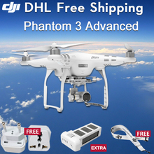 1 extra battery DJI Phantom 3 Advanced FPV RC Drones Quadcopter Helicopter Multicopter 1080P HD Camera Sliver Aerial Photography