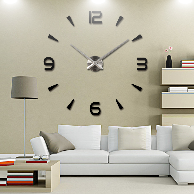 2015 new vintage wall clock modern design large diy - Oversized modern wall clock ...