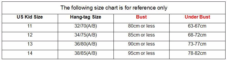 Striped Underwear Bras For Girls No Rims Puberty Kids Underwear For Student New Model Young Training Bra Set For Children