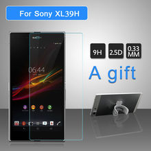 Screen Protector Tempered Glass Cover For Sony Xperia Z Ultra XL39H 9H 0.33mm Protective Film For Sony Z Ultra 2pcs A Gift