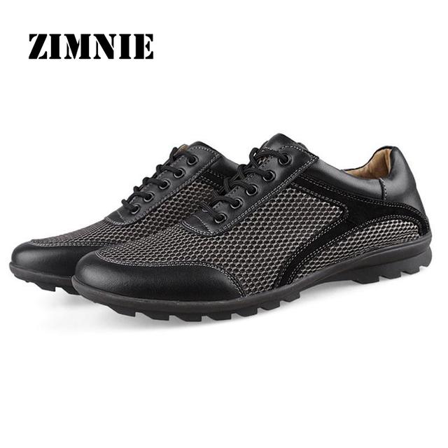 2016 дышащие мужские ботинки свободного покроя мода мужской обуви Zapatos де хомбре ...