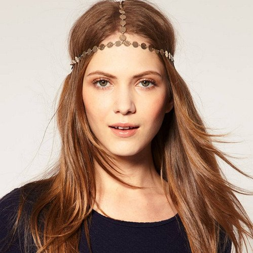 New Greek Goddess Temperament Vintage Golden Wafer Hairbands Women's Hair accessories HB070(China (Mainland))