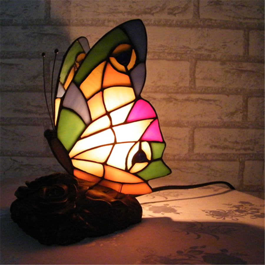 butterfly stained glass lamp buy cheap butterfly stained glass lamp. Black Bedroom Furniture Sets. Home Design Ideas