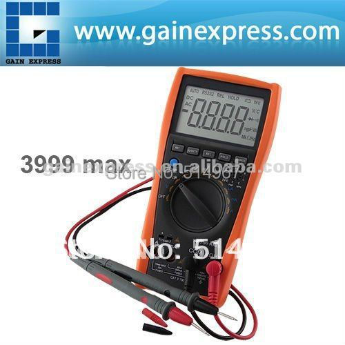 Auto Manual Digital Multimeter Thermometer Voltmeter Tester Resistance AC DC Ohm +Dual-slope integrating A/D Converter System(Hong Kong)