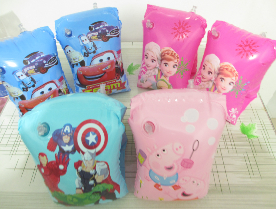 Direct manufacturers PVC children's cartoon arm float swimming ring thickened double balloon sleeves wholesale(China (Mainland))